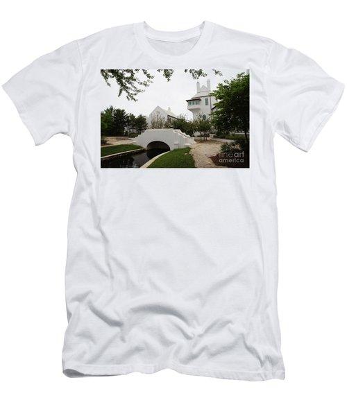 Bridge In Alys Beach Men's T-Shirt (Slim Fit) by Megan Cohen