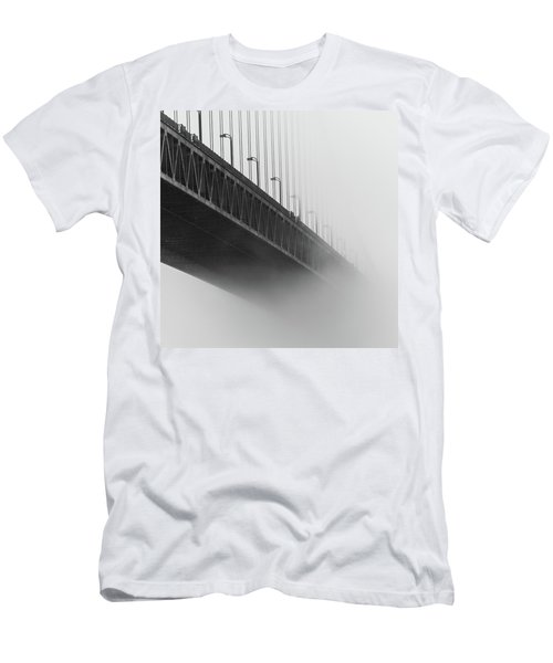 Men's T-Shirt (Athletic Fit) featuring the photograph Bridge In The Fog by Stephen Holst