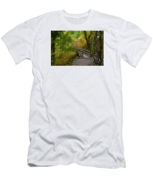 Bridge To Lightness Men's T-Shirt (Slim Fit) by Laura Ragland