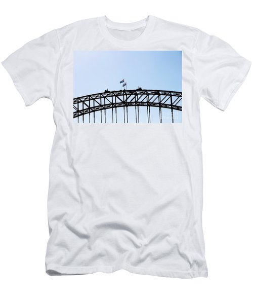 Men's T-Shirt (Slim Fit) featuring the photograph Bridge Walk by Stephen Mitchell