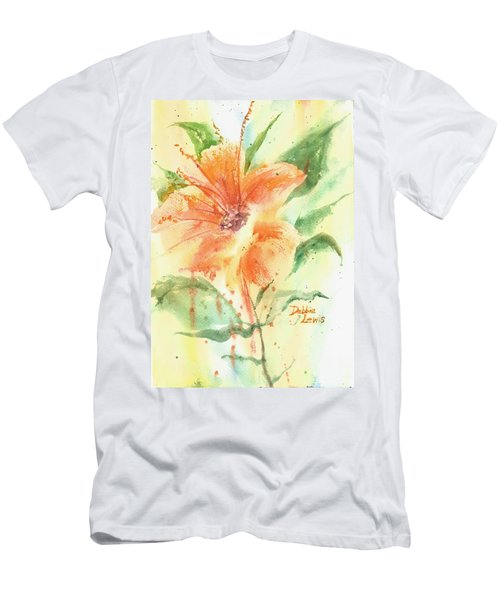 Bright Orange Flower Men's T-Shirt (Athletic Fit)