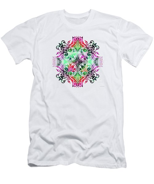 Bright Pattern Art - Color Fusion Design 9 By Sharon Cummings Men's T-Shirt (Athletic Fit)