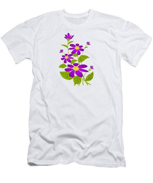 Bright Purple Men's T-Shirt (Athletic Fit)