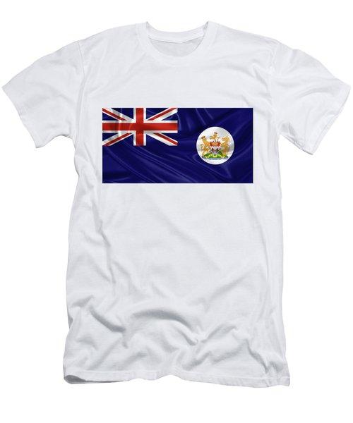 British Hong Kong Flag Men's T-Shirt (Athletic Fit)