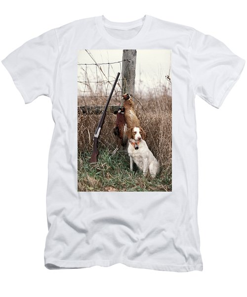 Brittany And Pheasants - Fs000757b Men's T-Shirt (Athletic Fit)