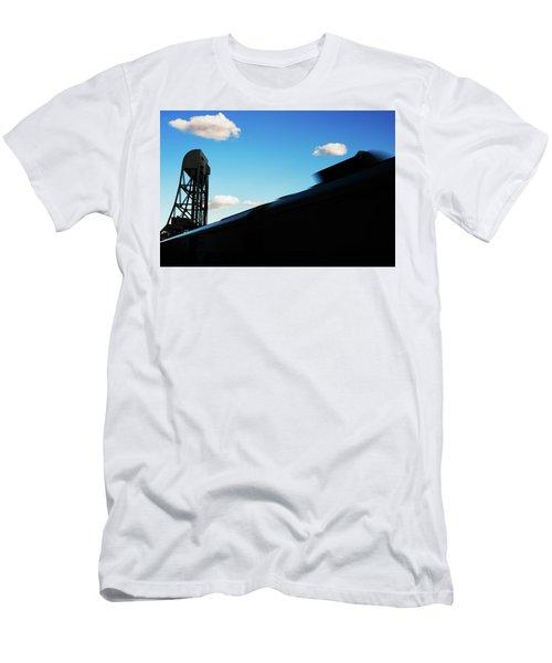 Broadway Bridge Abstract 1 Chromatic Men's T-Shirt (Athletic Fit)