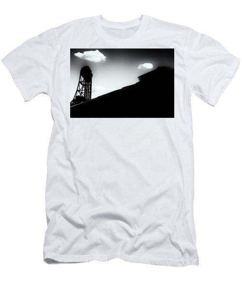 Broadway Bridge Abstract 1 Monochrome Men's T-Shirt (Athletic Fit)