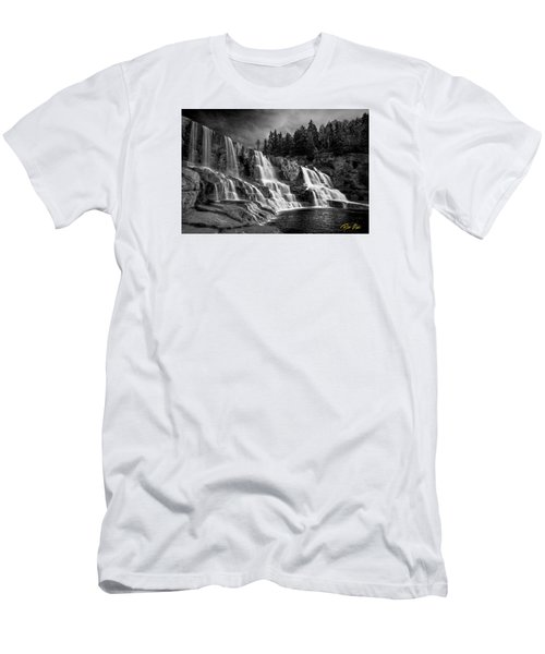Men's T-Shirt (Athletic Fit) featuring the photograph Brooding Gooseberry Falls by Rikk Flohr