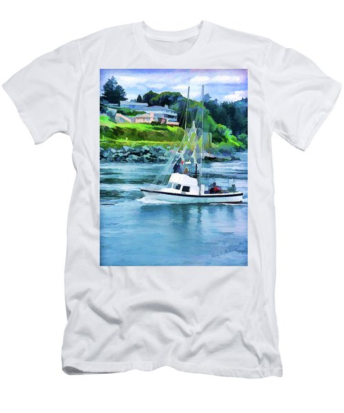 Brookings Boat Oil Painting Men's T-Shirt (Athletic Fit)
