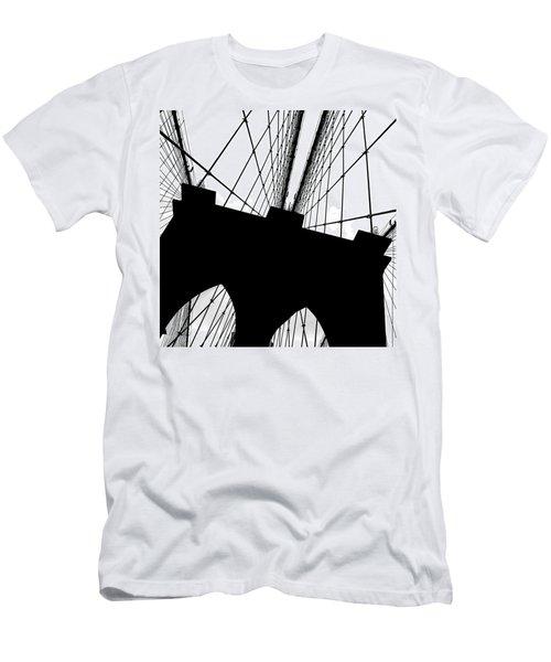 Brooklyn Bridge Architectural View Men's T-Shirt (Athletic Fit)