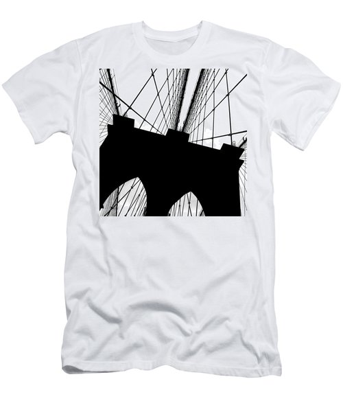 Brooklyn Bridge Architectural View Men's T-Shirt (Athletic Fit)