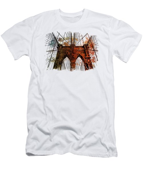 Brooklyn Bridge Art 1 Men's T-Shirt (Slim Fit) by Di Designs