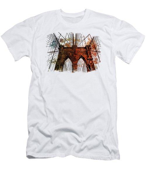 Brooklyn Bridge Art 1 Men's T-Shirt (Athletic Fit)