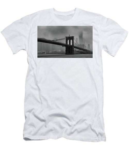 Brooklyn Bridge In A Storm 2 Men's T-Shirt (Athletic Fit)