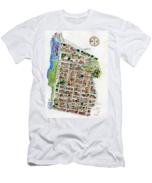Brooklyn Heights Map Men's T-Shirt (Slim Fit) by AFineLyne