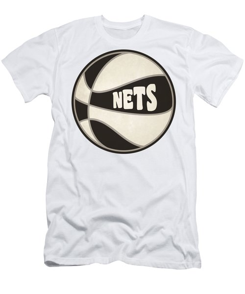 Brooklyn Nets Retro Shirt Men's T-Shirt (Slim Fit) by Joe Hamilton