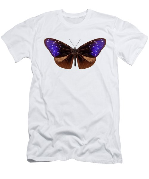 brown, blue and purple butterfly species Euploea Mulciber Men's T-Shirt (Athletic Fit)