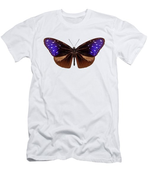 brown, blue and purple butterfly species Euploea Mulciber Men's T-Shirt (Athletic Fit)