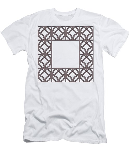 Brown Circles And Squares Men's T-Shirt (Athletic Fit)