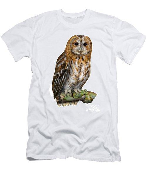 Brown Owl Or Eurasian Tawny Owl  Strix Aluco - Chouette Hulotte - Carabo Comun -  Nationalpark Eifel Men's T-Shirt (Athletic Fit)