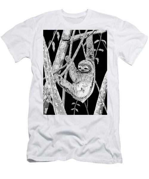 Brown-throated Three-toed Sloth Men's T-Shirt (Athletic Fit)