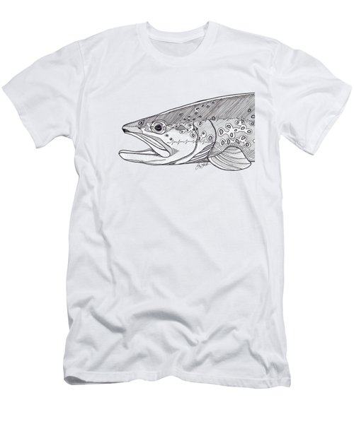 Brown Trout Men's T-Shirt (Slim Fit) by Jay Talbot