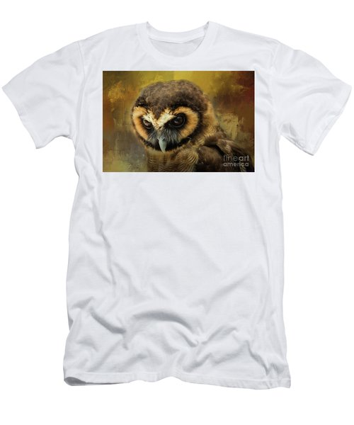 Brown Wood Owl Men's T-Shirt (Athletic Fit)