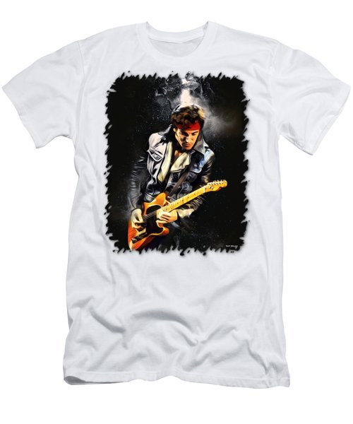 Bruce Springsteen Airbrushed Men's T-Shirt (Athletic Fit)
