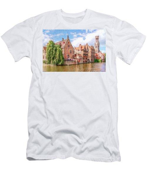 Bruges Canal Belgium Dwp-2611575 Men's T-Shirt (Athletic Fit)