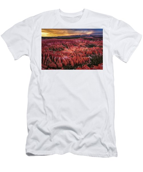 Men's T-Shirt (Athletic Fit) featuring the photograph Bryce Canyon In The Glow Of Sunset by John Hight