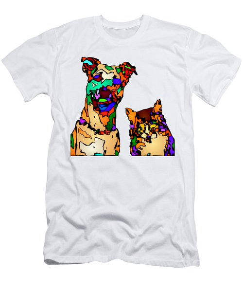Buddies For Life. Pet Series Men's T-Shirt (Athletic Fit)