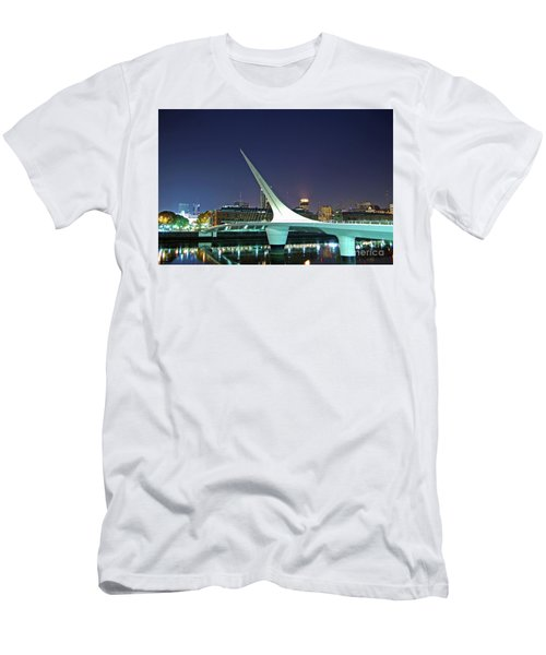 Buenos Aires - Argentina - Puente De La Mujer At Night Men's T-Shirt (Athletic Fit)
