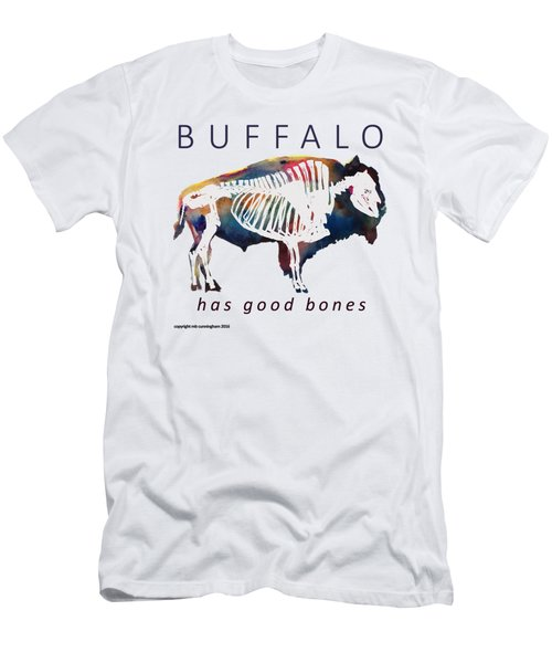 Buffalo Has Good Bones Men's T-Shirt (Slim Fit) by Marybeth Cunningham