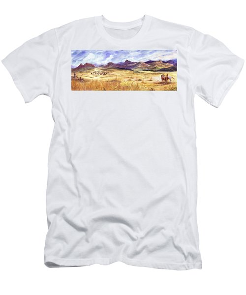 Buffalo Hunt Panorama Men's T-Shirt (Athletic Fit)