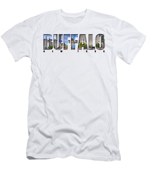 Buffalo Ny Entering Downtown Men's T-Shirt (Athletic Fit)