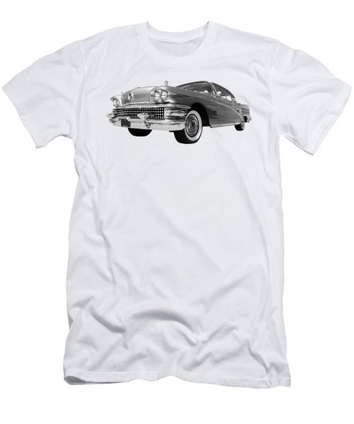 Buick Roadmaster 75 In Black And White Men's T-Shirt (Athletic Fit)