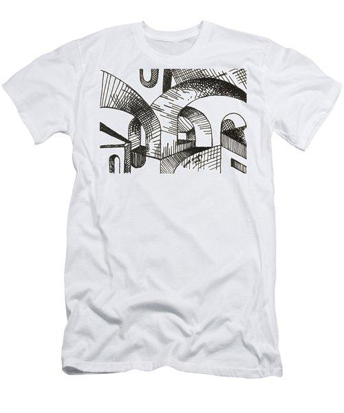 Buildings 1 2015 - Aceo Men's T-Shirt (Slim Fit) by Joseph A Langley