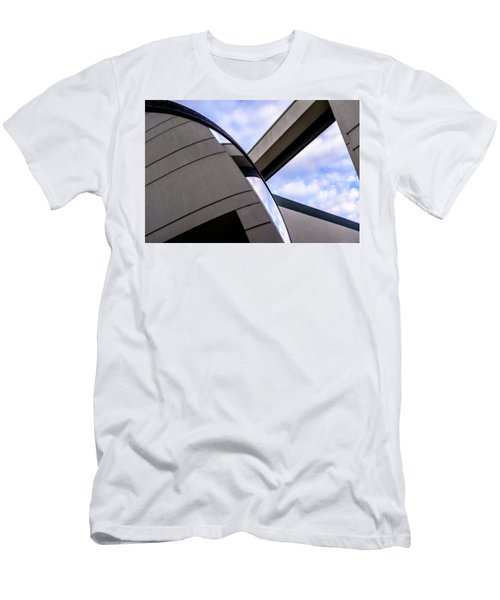 Buildings And Shapes With A Blue Sky In Orlando Florida Men's T-Shirt (Athletic Fit)