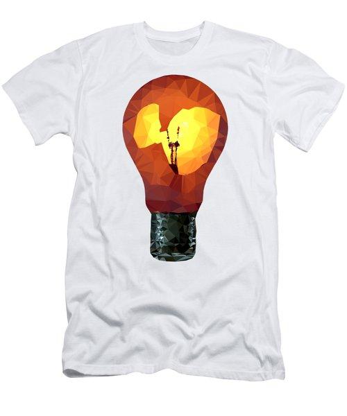 Bulb Men's T-Shirt (Athletic Fit)