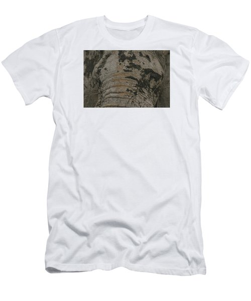 Men's T-Shirt (Slim Fit) featuring the photograph Bull Elephant Close-up by Gary Hall