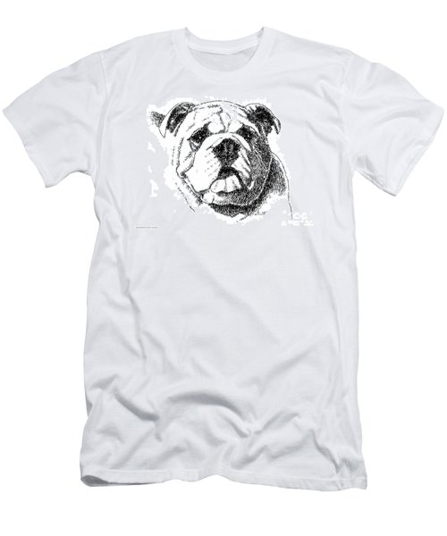 Bulldog-portrait-drawing Men's T-Shirt (Athletic Fit)