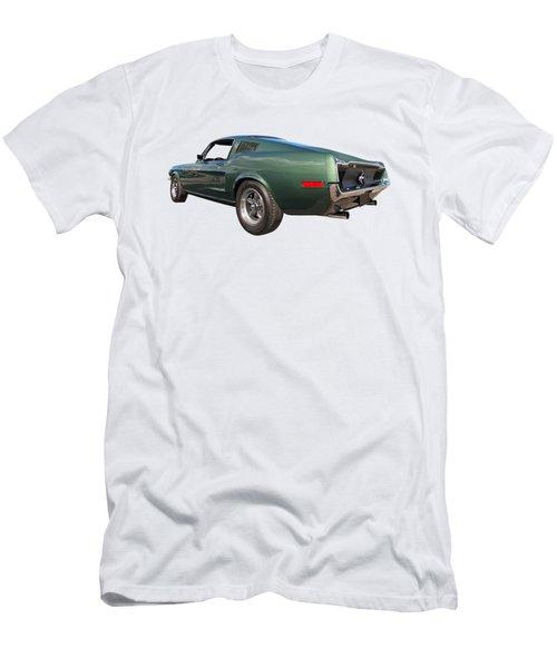 Men's T-Shirt (Slim Fit) featuring the photograph Bullitt - 1968 Mustang Fastback by Gill Billington