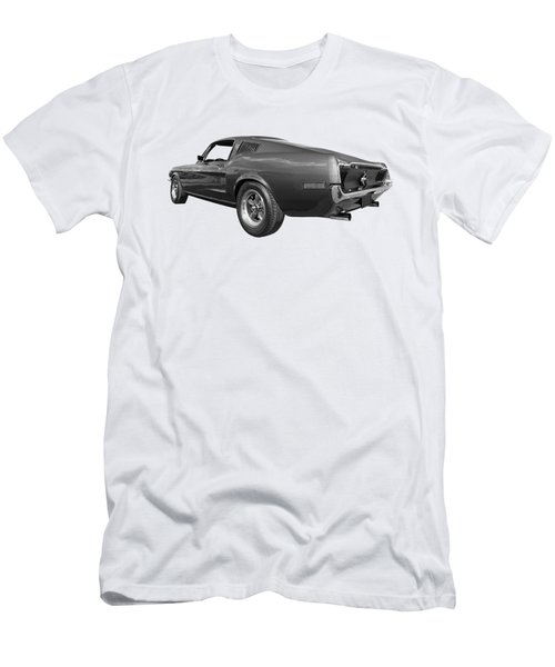 Bullitt Mustang 1968 In Black And White Men's T-Shirt (Athletic Fit)