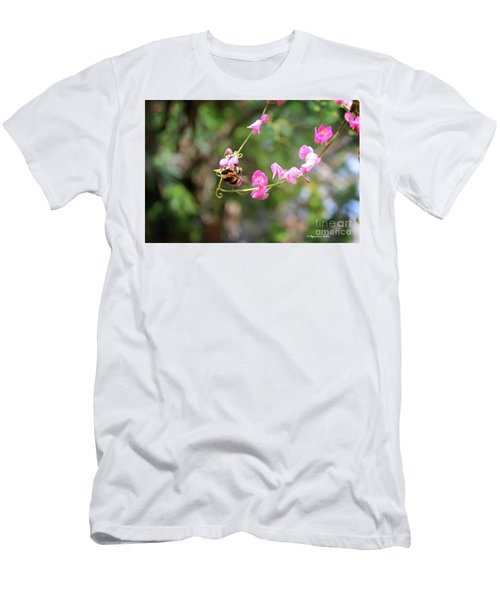 Men's T-Shirt (Athletic Fit) featuring the photograph Bumble Bee1 by Megan Dirsa-DuBois