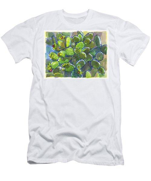 Bunny Ear Cactus Men's T-Shirt (Athletic Fit)