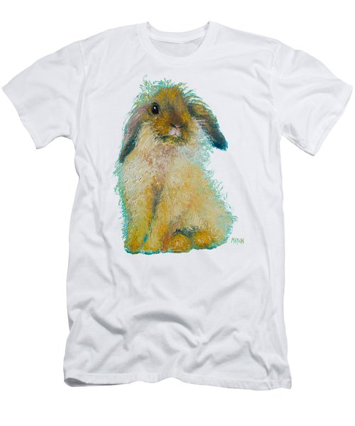 Bunny Rabbit Painting Men's T-Shirt (Athletic Fit)