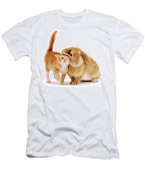 Bunny Rubbing Men's T-Shirt (Athletic Fit)