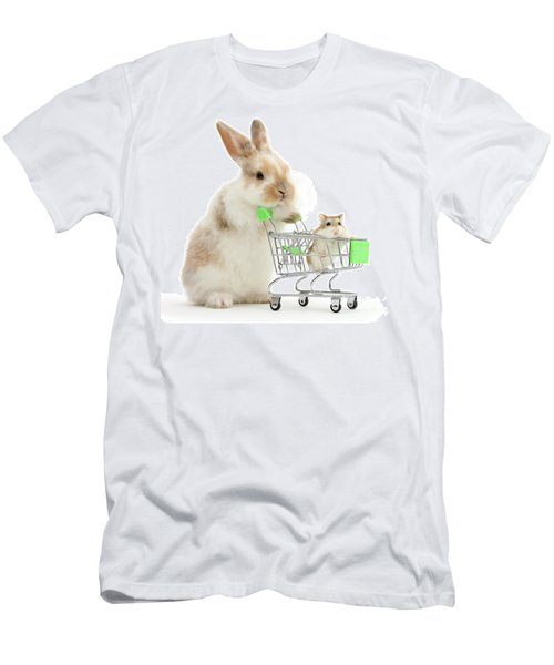 Bunny Shopping Men's T-Shirt (Athletic Fit)