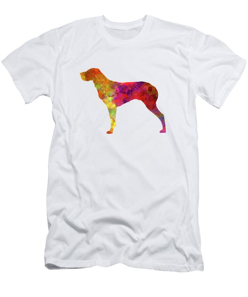 Burgos Pointer In Watercolor Men's T-Shirt (Slim Fit) by Pablo Romero