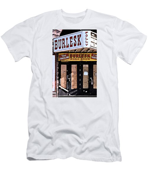 Burlesk At The Folly Men's T-Shirt (Slim Fit) by Jim Mathis